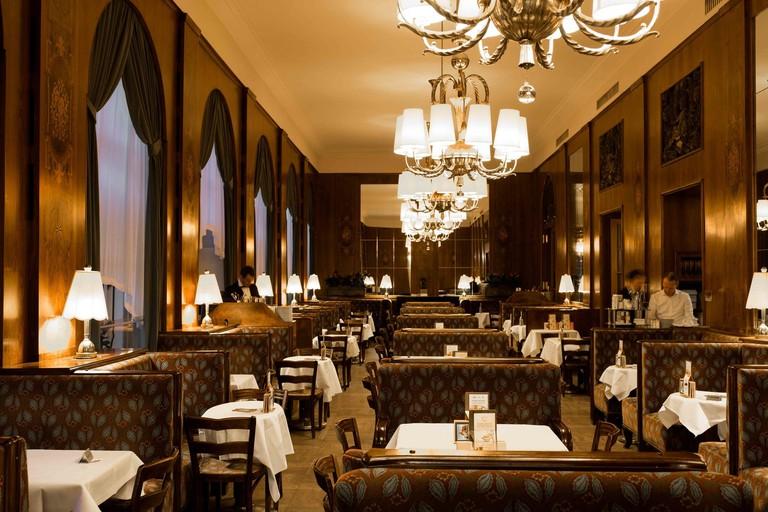 The elegant interior of Café Landtmann