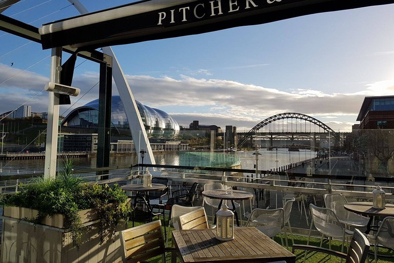 Outdoor terrace at Pitcher & Piano, Quayside