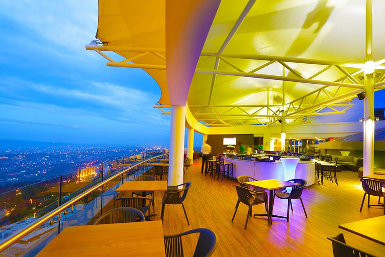 Roof bar at Ubumwe Grande Hotel
