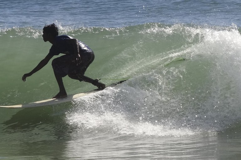 Surfing at Kovalam, Chennai