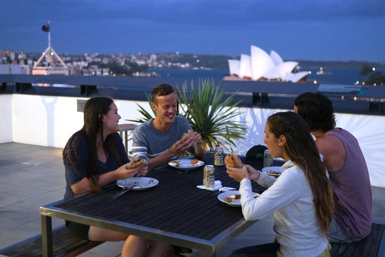 Sydney Harbour YHA rooftop