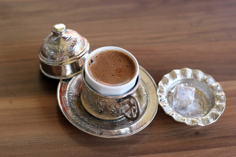 A strong cup of Turkish coffee