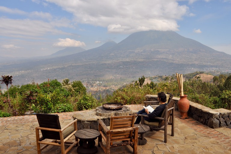 Views from Virunga Lodge