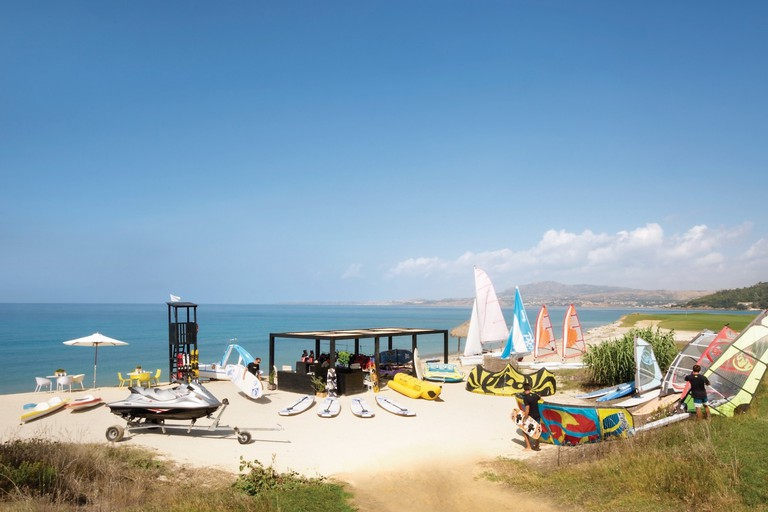 The retreat at Verdura Spa in Sicily also includes a water sports club
