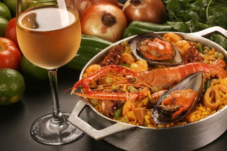 Prawn dish at O Peixe Vivo