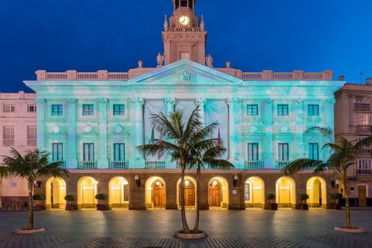 Cádiz's town hall on Plaza San Juan de Dios is just around the corner from Hostal Bahía