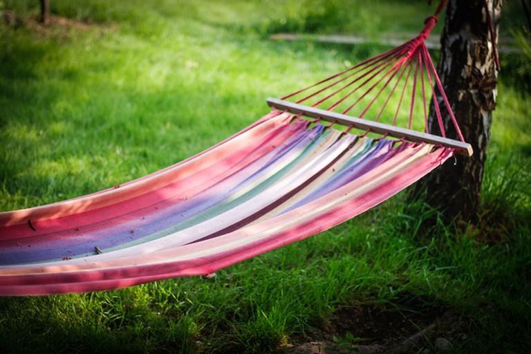 Enjoy a hammock by the river