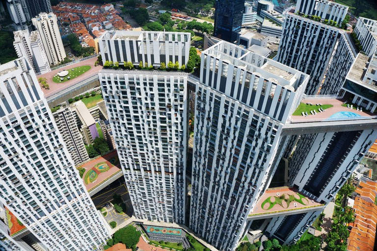 Aerial view at The Pinnacle@Duxton | © Darren Soh / Courtesy of Singapore Tourism Board