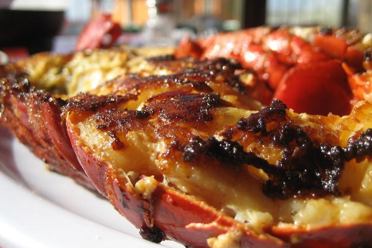 Pan-fried lobster