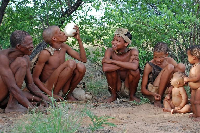 Traditional Khoisan famil