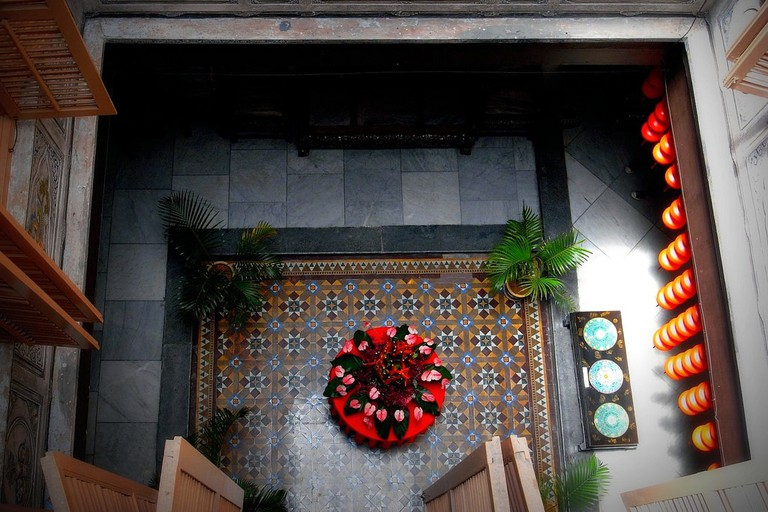 Courtyard in Hotel Puri