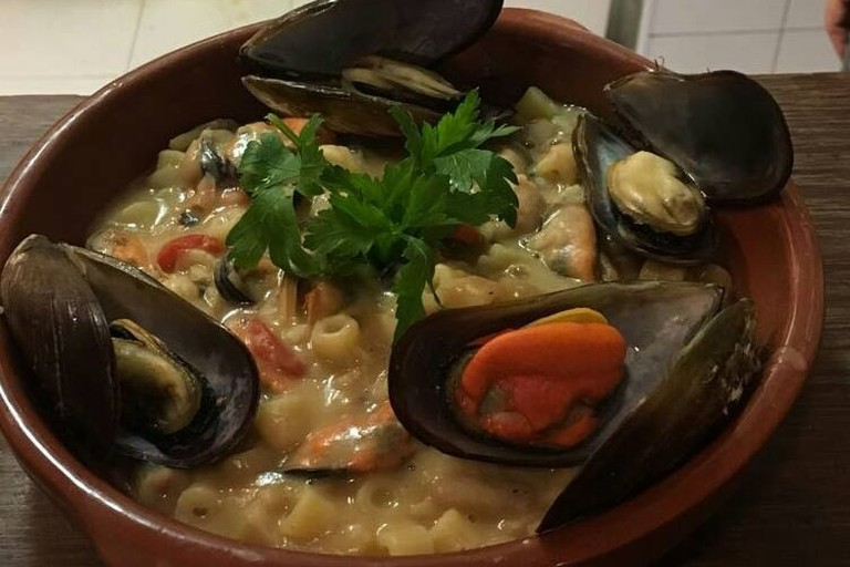 Seafood dish at Ristorante Pasta e Pallone