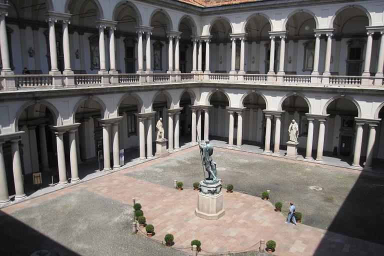 The courtyard at Pinacoteca di Brera, Milan