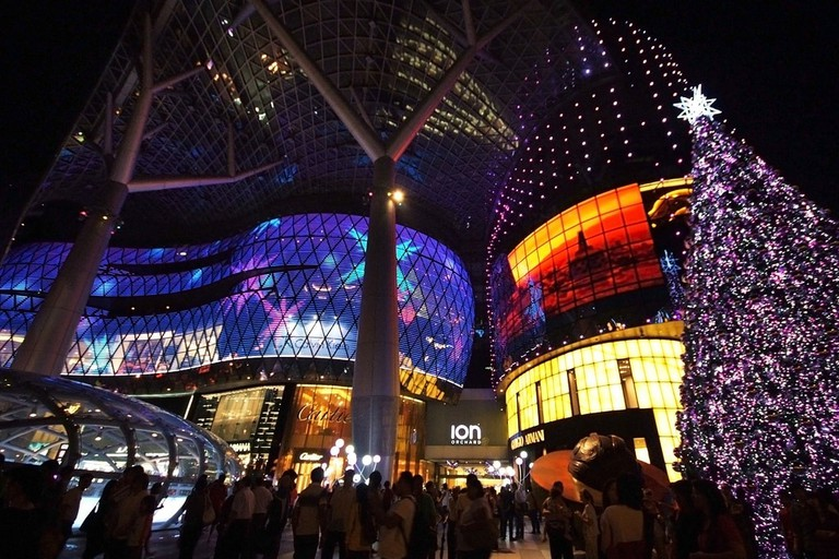 View of ION Orchard during Christmas