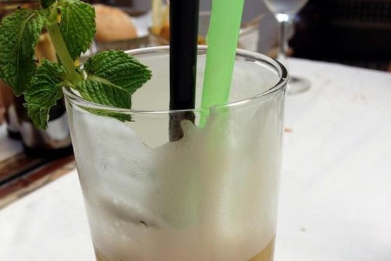 Mint tea at Cafe Arabe