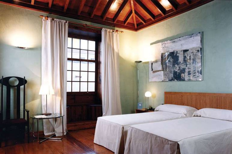 The Hotel San Roque's rooms are spacious and decorated in soft colours