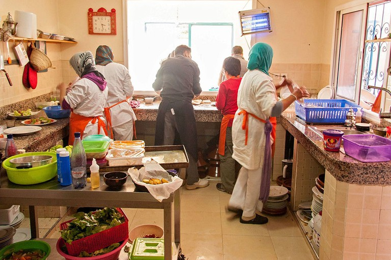 Cooking class at the Amal Centre in Marrakech
