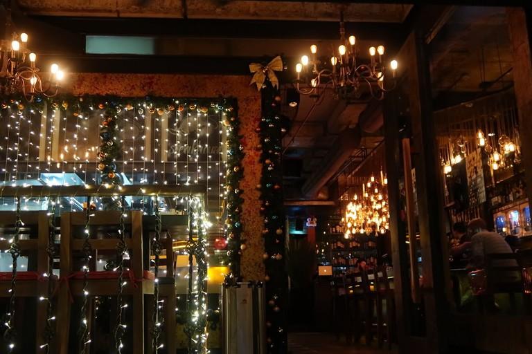 The bar at El Goucho
