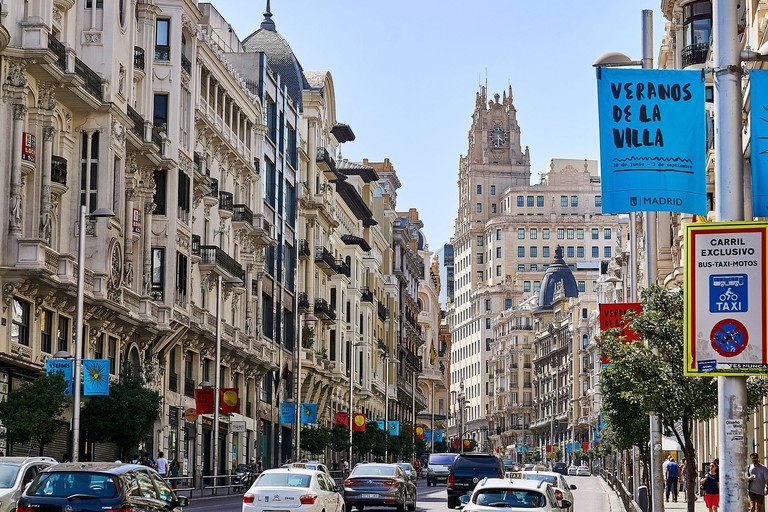 The hotel is located just off the Gran Vía