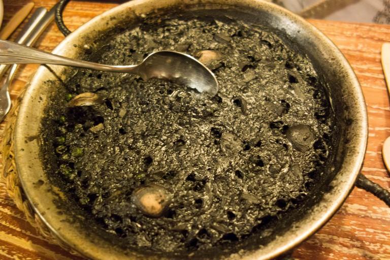 Black rice at Xàtiva