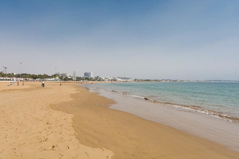 Views along Agadir's beach