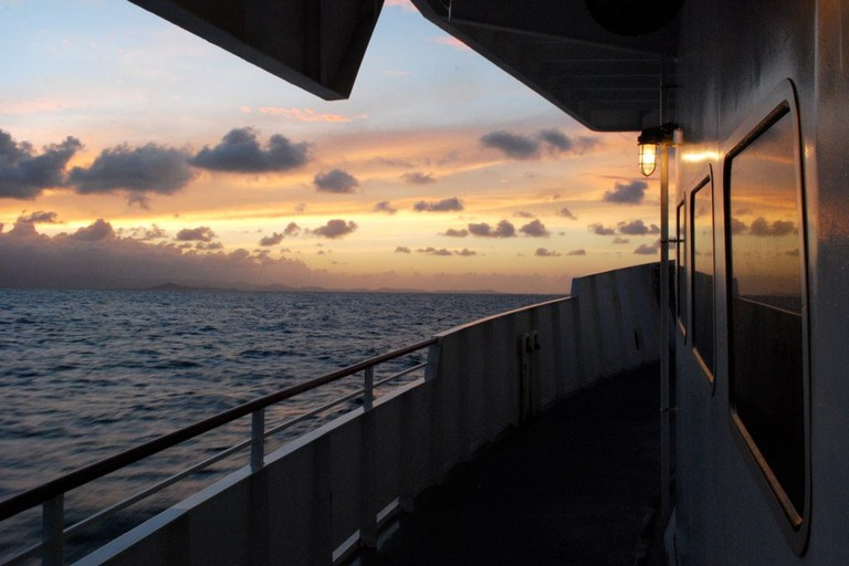 Sunset view from Vieques ferry
