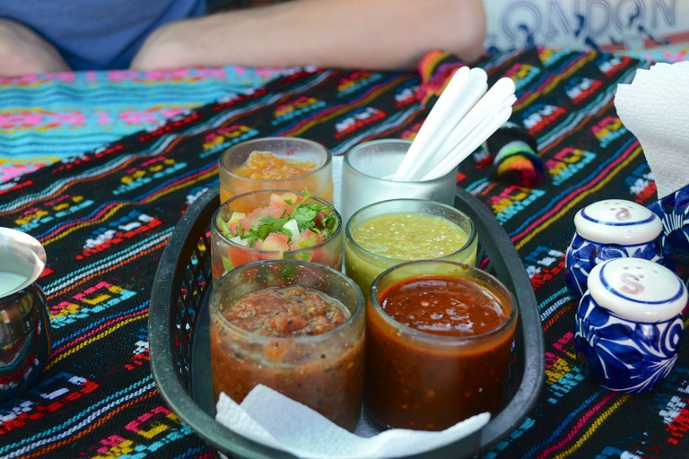 Salsas in Mama's Royal Café