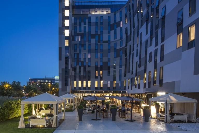 The unusual Falkensteiner Hotel in New Belgrade