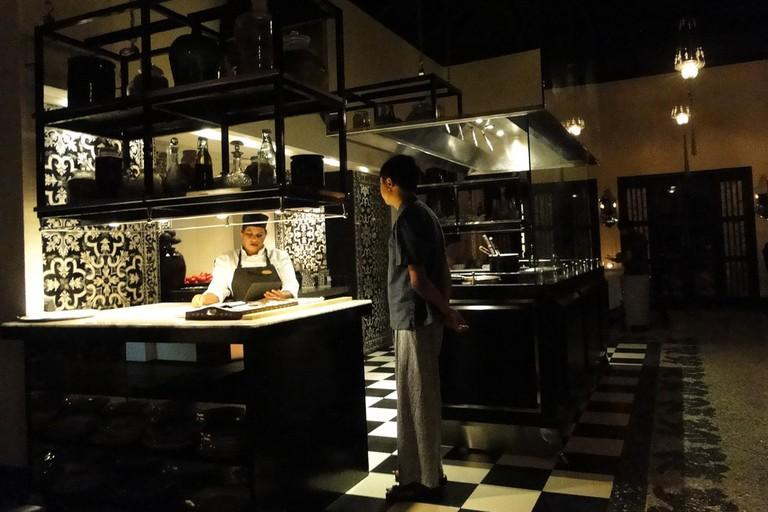 Open kitchen at Casa Sarita