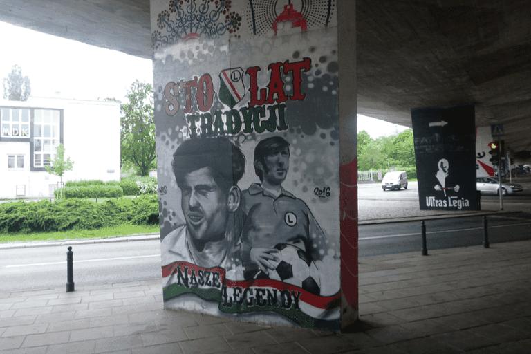 Legia Warsaw murals