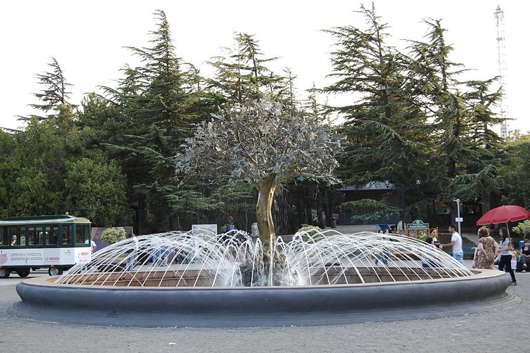 The fountain in Mtatsminda Park