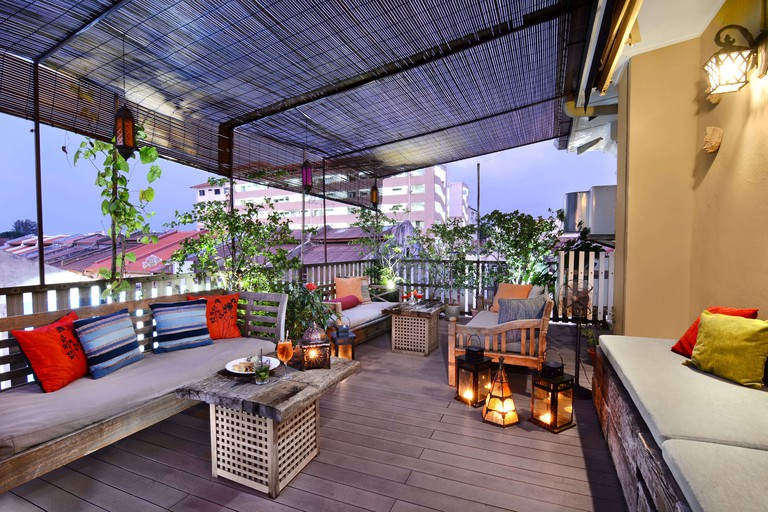 Rooftop terrace at Campbell House