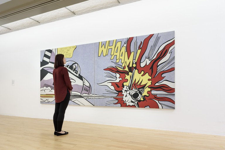 Roy Lichtenstein's Whaam! 1963 on display at Tate Liverpool