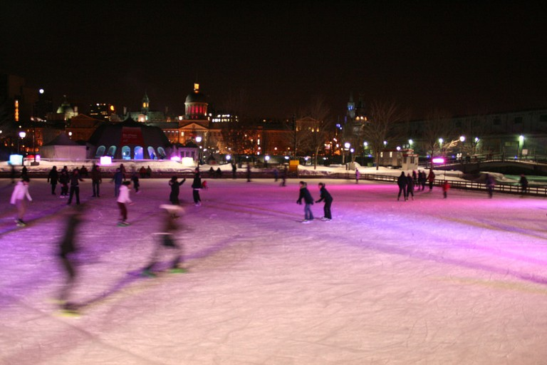 Old Port Montreal ice skating