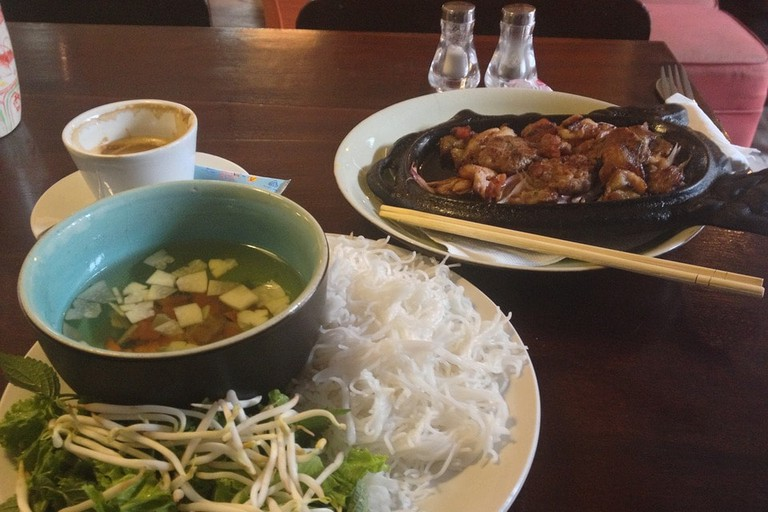 Vietnamese food and coffee