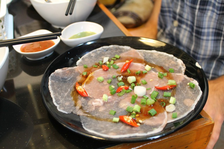 Meat to go on the hot pot