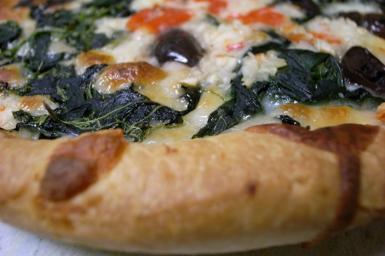 Wood-fired pizzas are a speciality at Cafe Mozu