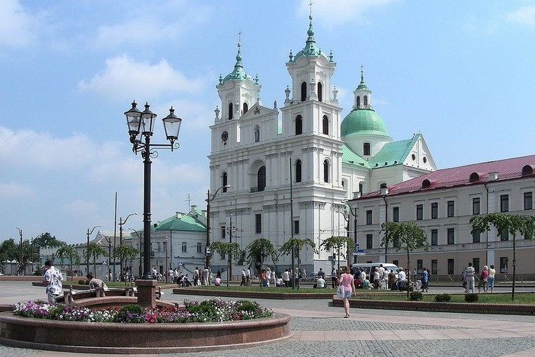 BELARUS_-_GRODNO_(Гродна)._Farny_catholic_church.