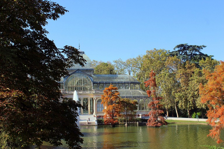 The hotel is close to Madrid's Retiro Park