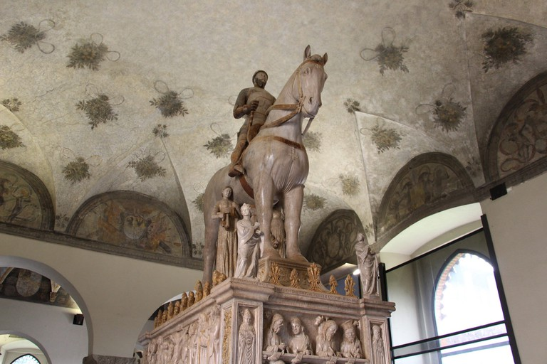 Tomb of Bernabo Visconti made by Bonino da Campione in 1363, inside Castello Sforzesco