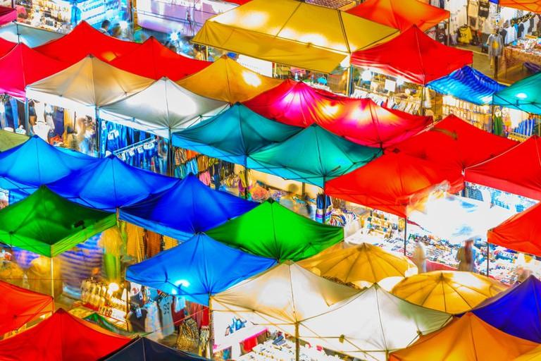 Train Market, Thailand