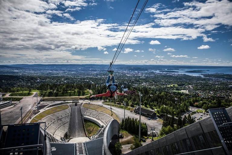 Ziplining at Holmenkollen