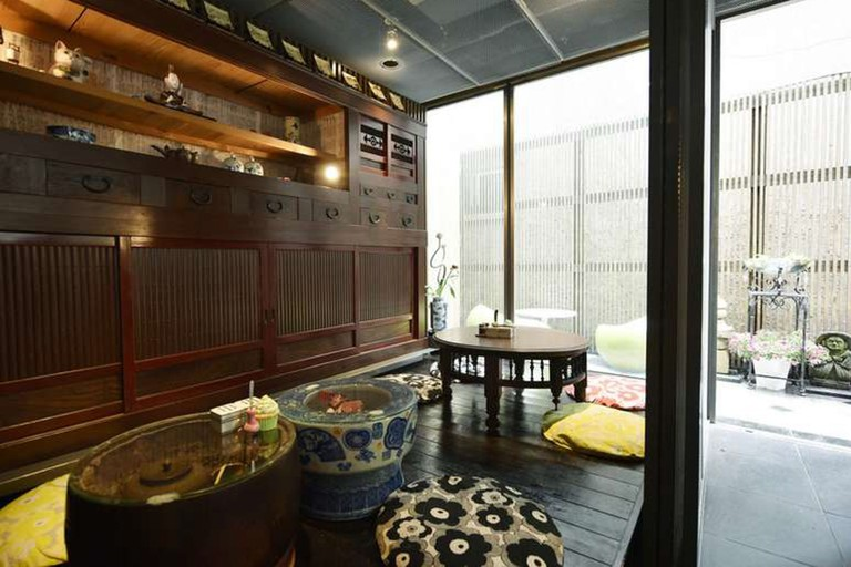 Andon Ryokan features tea corners on each floor