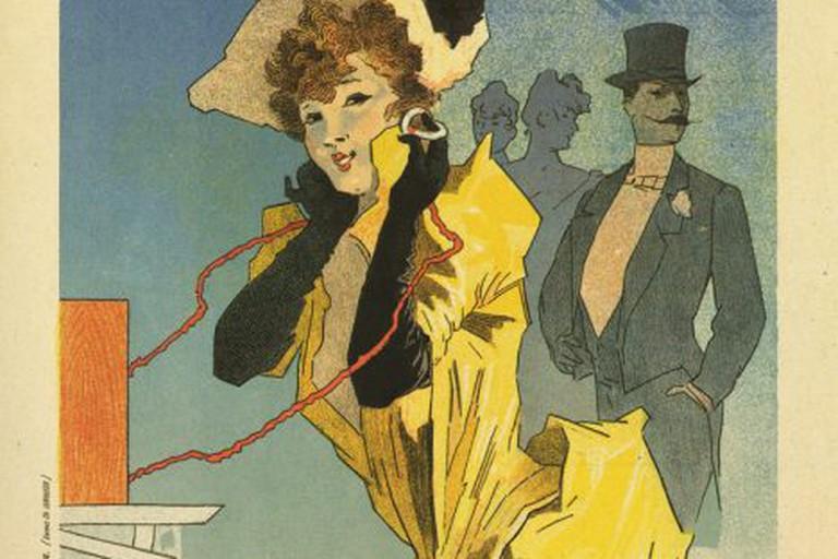Jules Chéret: Théâtrophone, 1890