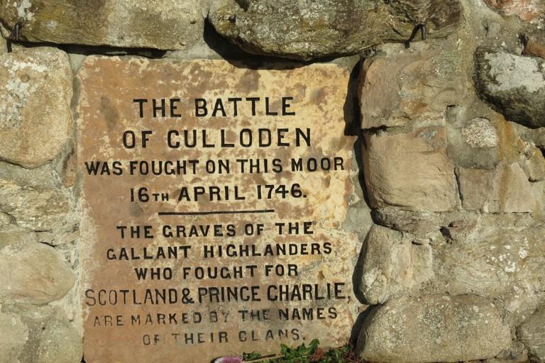 Culloden Memorial Stone