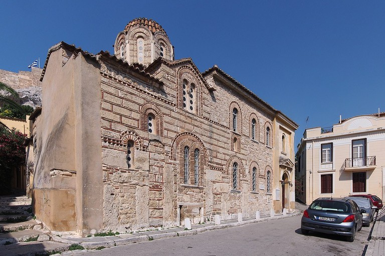Exterior view of Agios Nikolaos Ragavas church, Athens