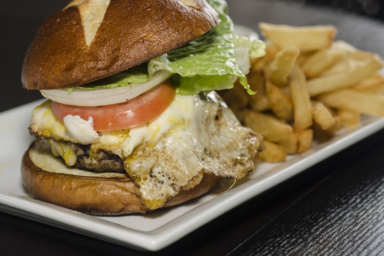 A gourmet burger © Kurman Communications, Inc.