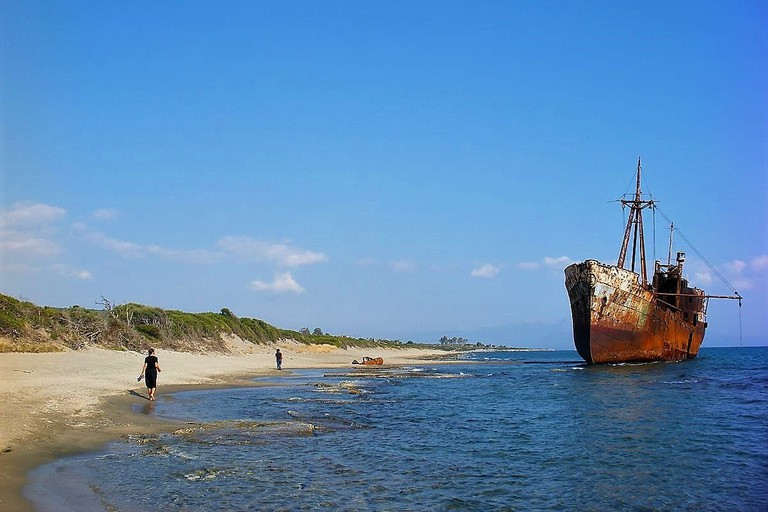 Valtaki beach and the Demetrius shipwreck