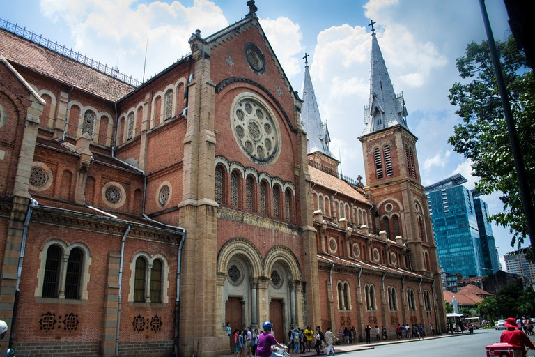 Side of the Saigon Notre Dame Cathedral