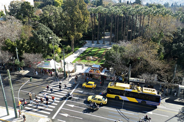 The National Gardens entrance, by Syntagma